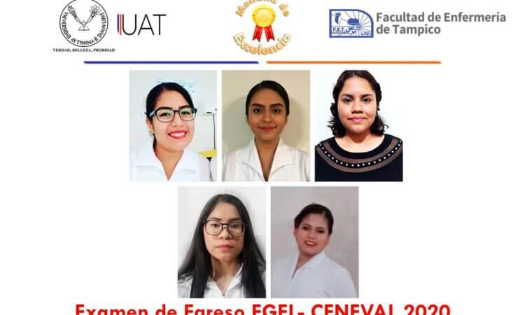 Egresadas de Enfermería UAT Tampico reciben medalla de excelencia EGEL-Ceneval