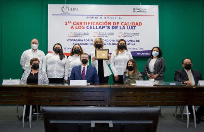 Certifican la calidad de los centros de idiomas CELLAP de la UAT