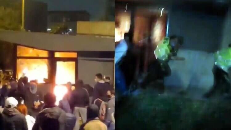 «Ustedes no hacen nada»: intentaron quemar a policías en Colombia