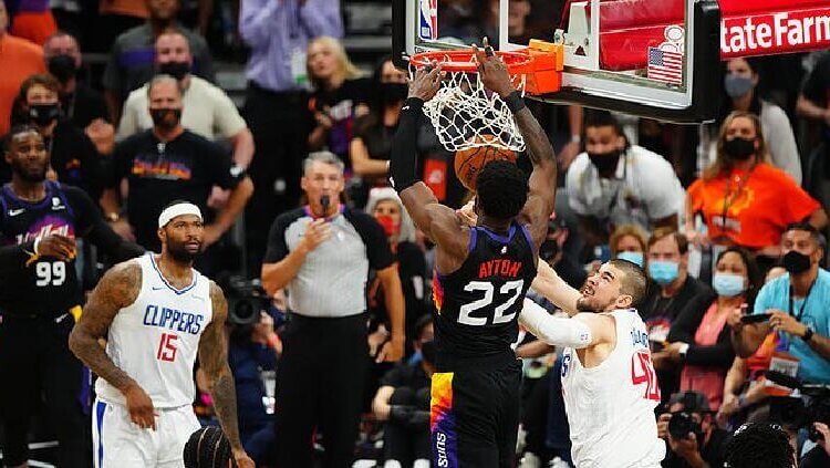 Deandre Ayton da un increíble y dramático triunfo a Suns ante Clippers