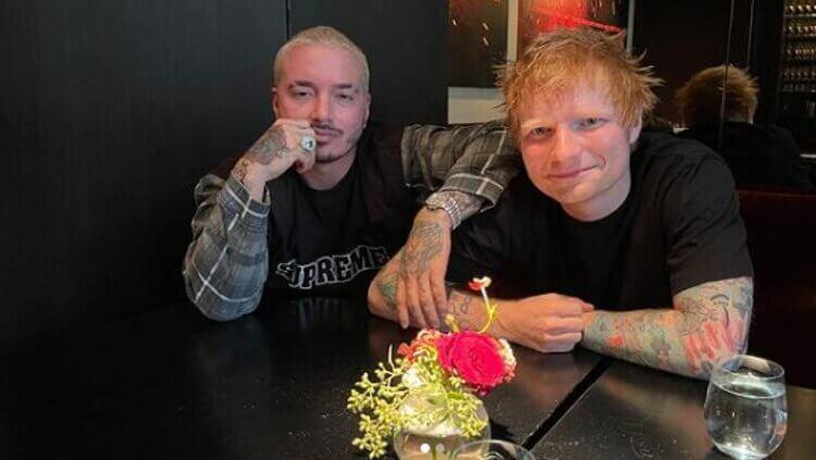«Amistad primero»: J Balvin tendrá colaboración con ¡Ed Sheeran!